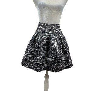 Freestyle Flared Bandage Skirt Box Pleats Size L